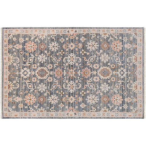 Urdin Hand-Knotted Rug, Taupe/Multi