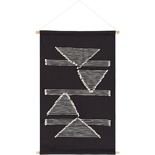 Sienna Wall Hanging, Black