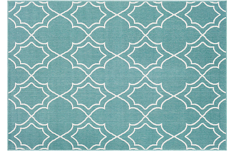 Sita Outdoor Rug Teal White Outdoor Rugs Rugs One Kings Lane
