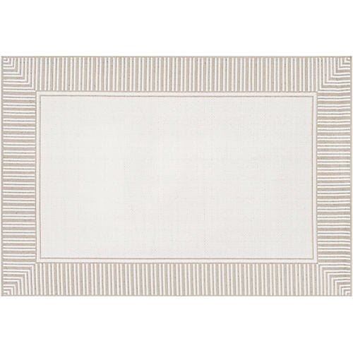 Fay Outdoor Rug, Taupe/White