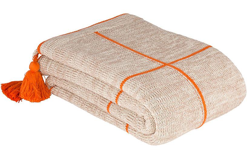 Graficar Cotton Throw, Burnt Orange