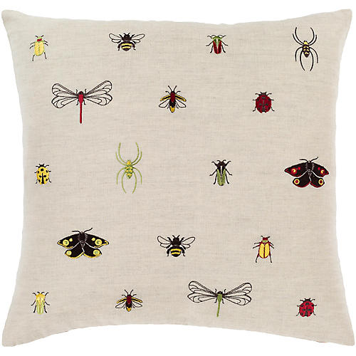 Critters Pillow, Beige/Multi