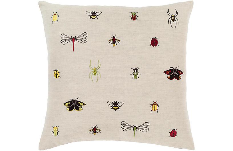 Critters Pillow, Beige/Multi