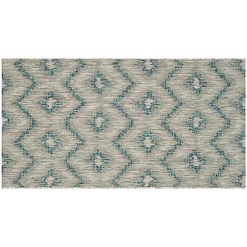Aubrey Indoor/Outdoor Rug, Gray/Blue