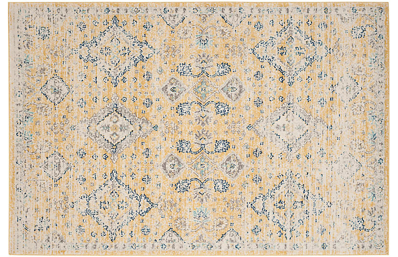 Anaa Rug Gold Ivory Traditional Rugs By Style Rugs