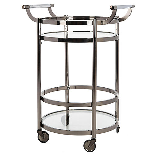 Carrey Bar Cart, Gunmetal