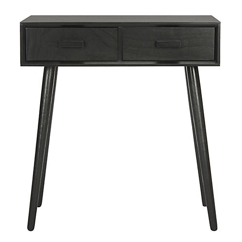 Morris 2-Drawer Console, Black