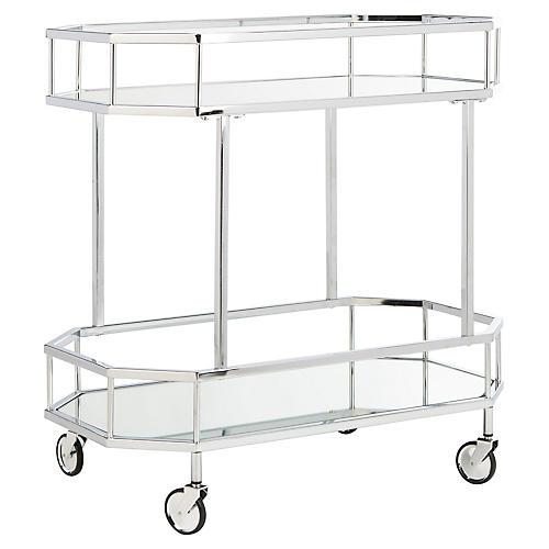 Cava Bar Cart, Silver