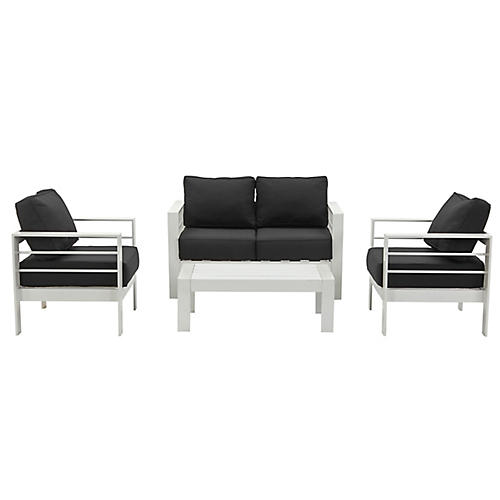 Nason 4-Pc Lounge Set, Black