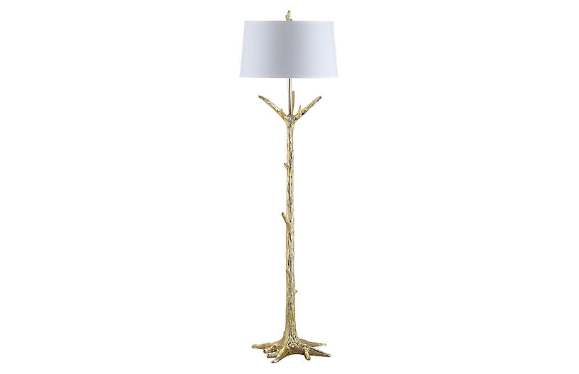Luna Floor Lamp, Gold