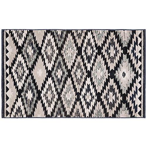 Macey Indoor/Outdoor Rug, Gray/Black