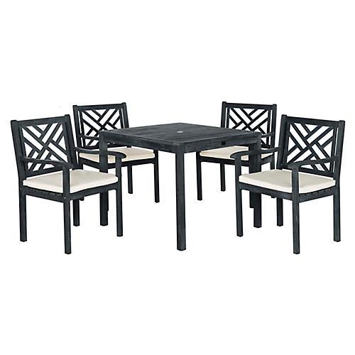 Bradbury 5-Pc Dining Set, Dark Slate Gray