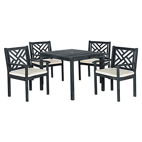 Bradbury 5-Pc Dining Set, Dark Slate Gray