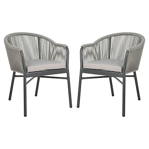 S/2 Nicolo Chairs, Gray