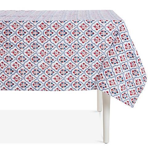 Priya Tablecloth, Pink/Multi
