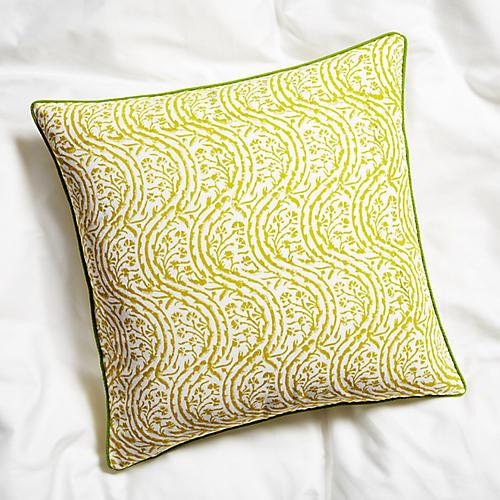 Marl Pillow, Vine Green
