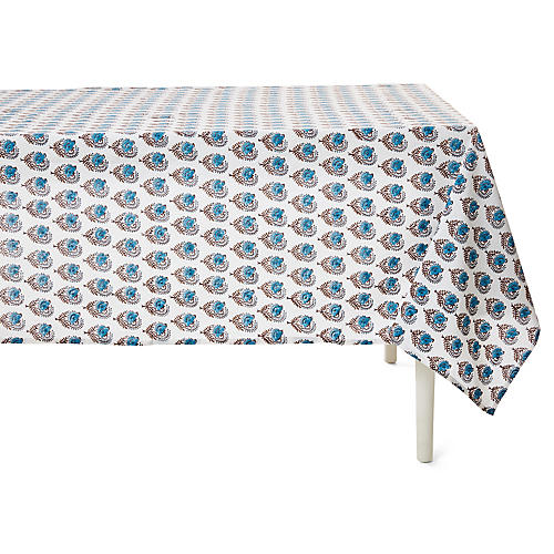 Ketaki Allover Tablecloth, Sky