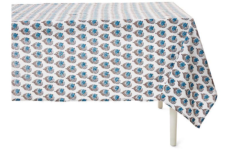 Ketaki Allover Tablecloth, Sky