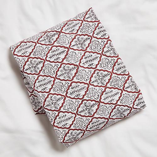 Trellis Crib Sheet, Rosewood
