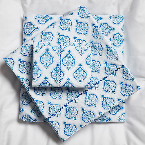 Estampe Sheet Set, Blue