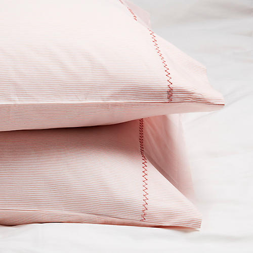 S/2 Capellini Pillowcases, Powder