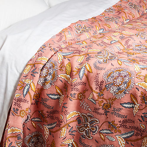 Valence Duvet Cover, Coral