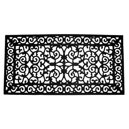 2'x4' Piazzo Doormat, Black