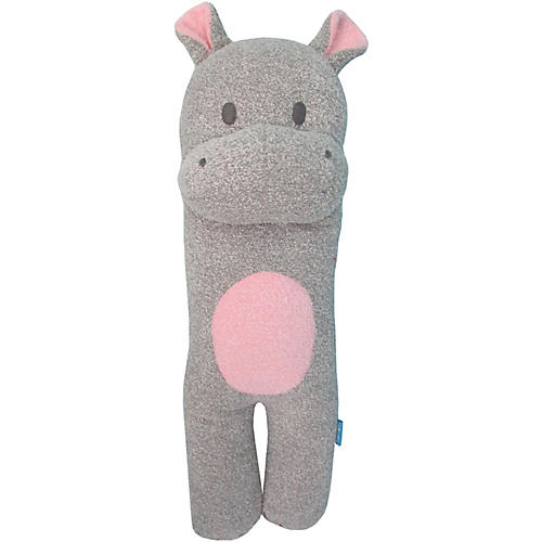 Happy Hippo Plush Toy, Gray/Pink