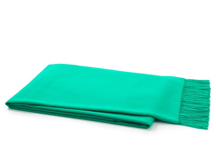 Solid Throw, Vibrant Green