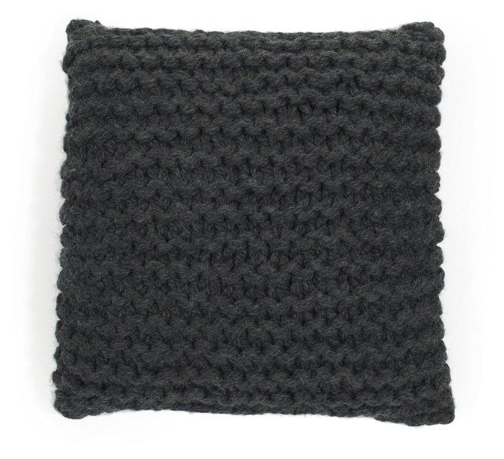Handmade Links 18x18 Pillow, Charcoal