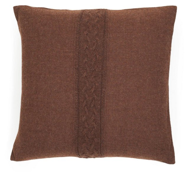 Solid Cable 20x20 Pillow, Hershey
