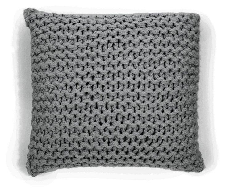 Links 18x18 Alpaca Pillow, Gray