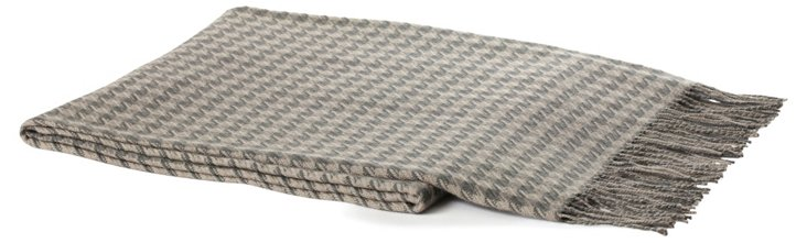 Houndstooth Alpaca Throw, Military