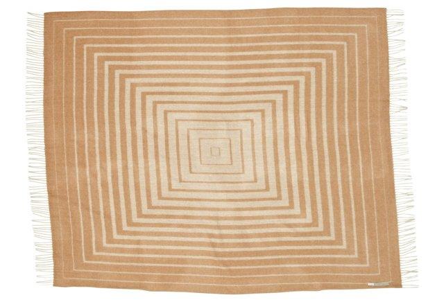 Labyrinth Alpaca Throw, Camel