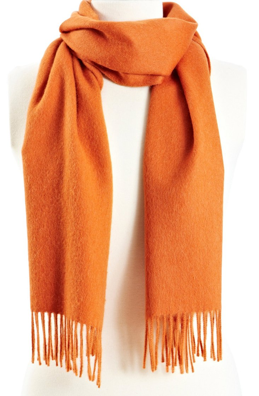 Solid Alpaca Scarf, Orange