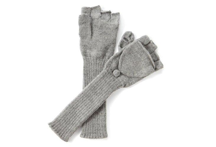 Fingerless Gloves, Gray