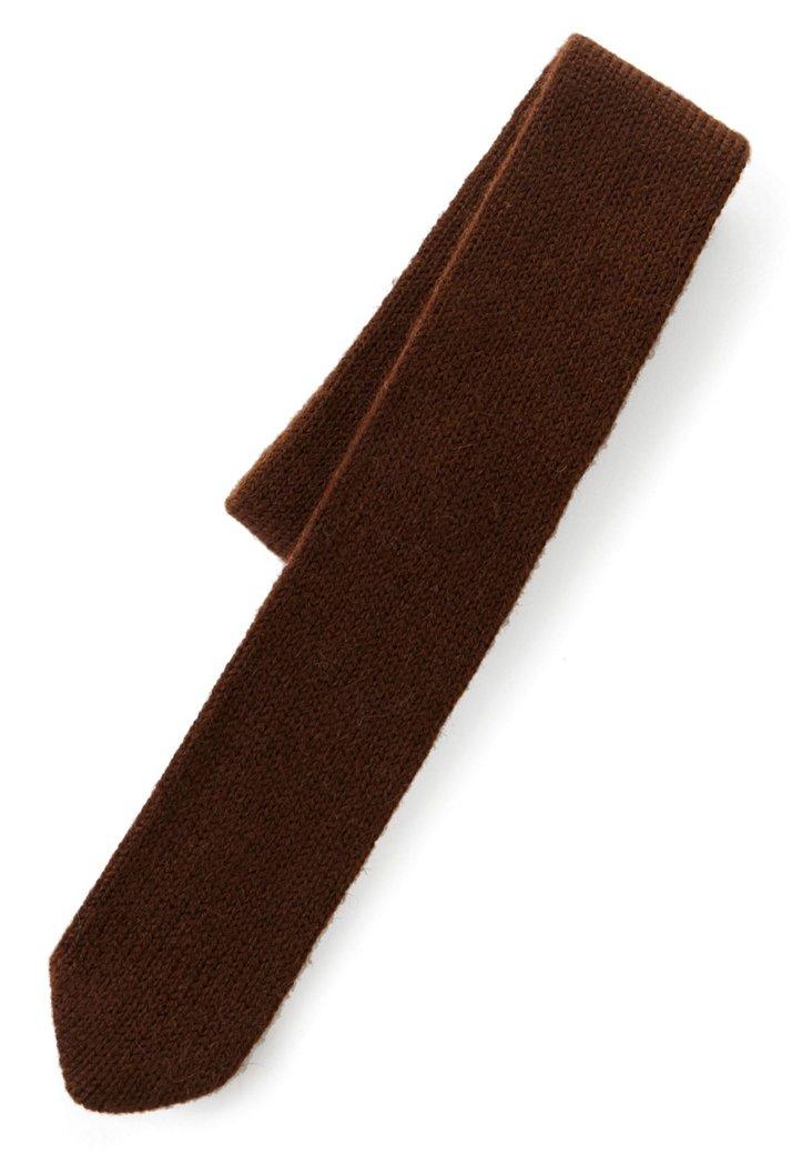 Knitted Alpaca Tie, Brown
