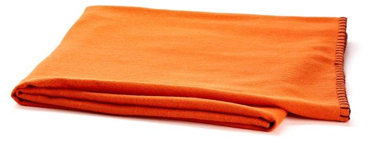 Week-Ender Alpaca Throw, Orange/Purple