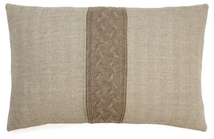 Herringbone 13x20 Pillow, Taupe