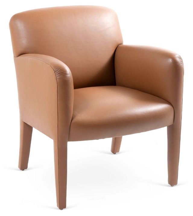 Donghia Vintage Glove-Leather Chair