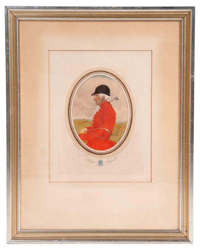 Framed Antique Print