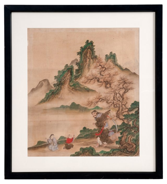Framed Chinese Painting I
