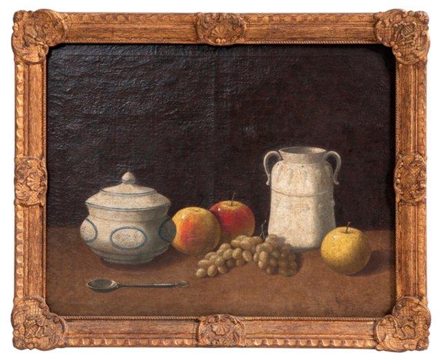 Antique Oil Painting, Fruit