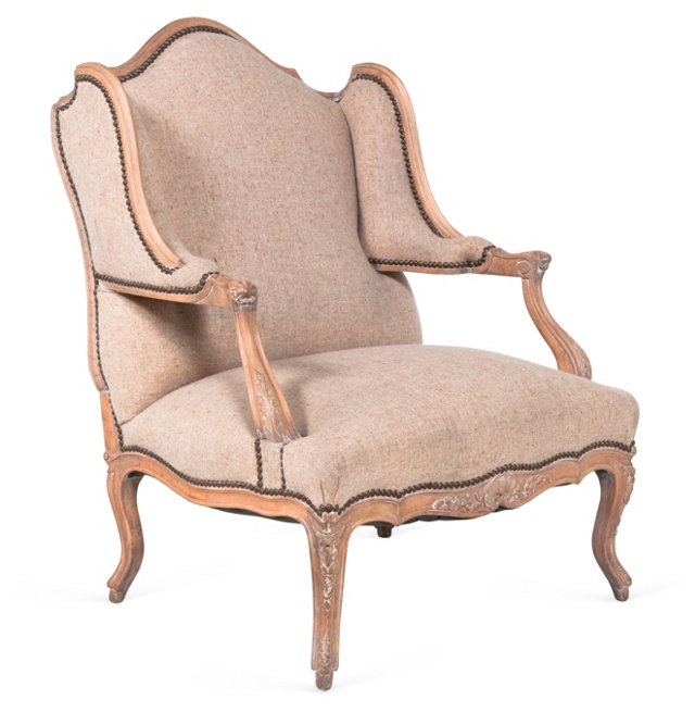 French Wing Back Armchair