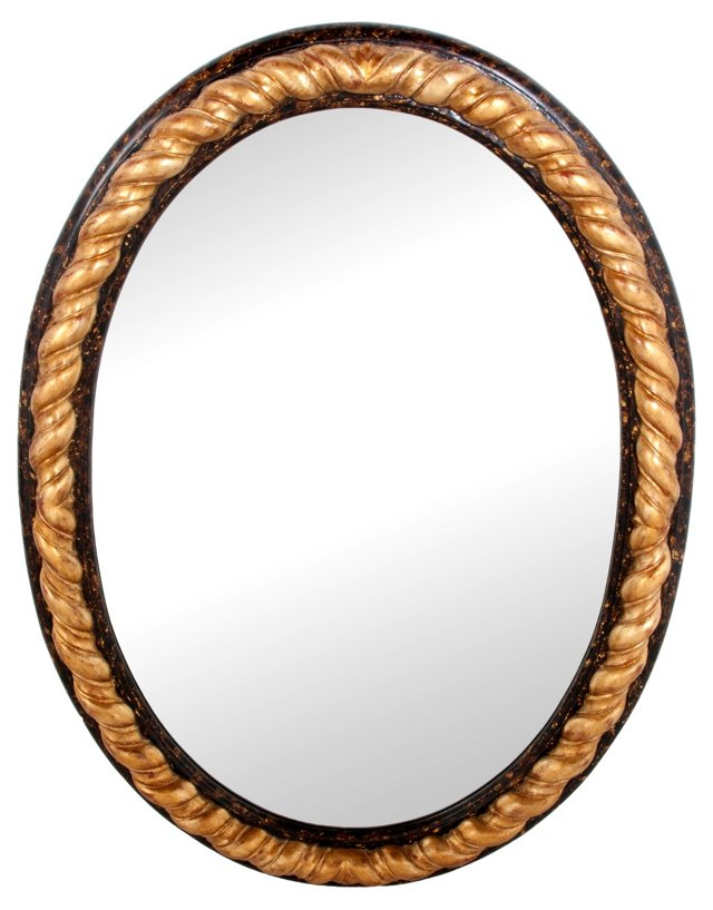 Modern Gold 'Gadroon' Mirror