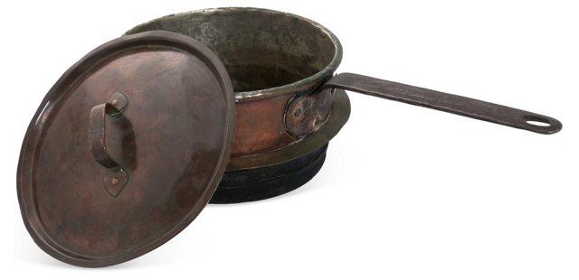Copper Sauce Pot, Small