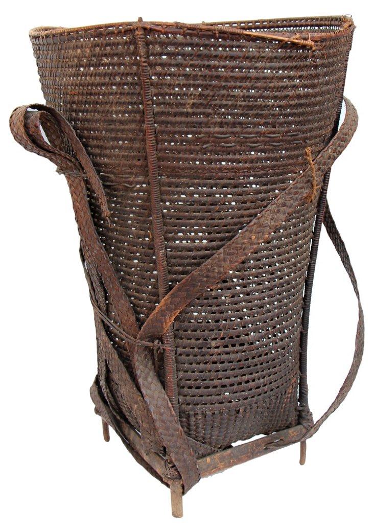 Vintage Hill Tribe Basket II