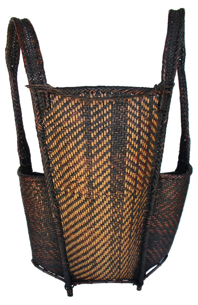 DNU,OHill Tribe Bamboo Basket Backpack