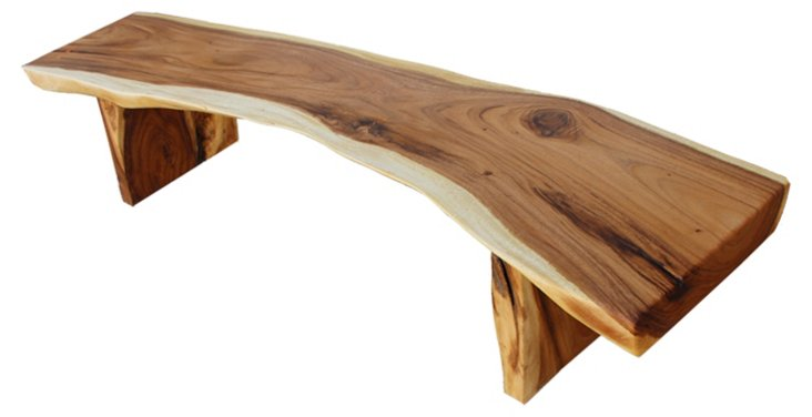 Acacia Free-Edge Bench II
