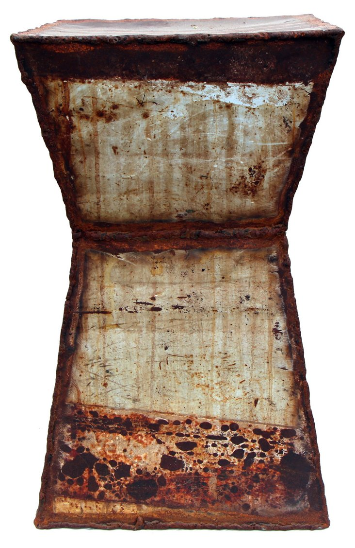 Orleans Stool, Rusty White